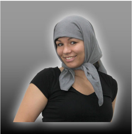 Headscarf grey